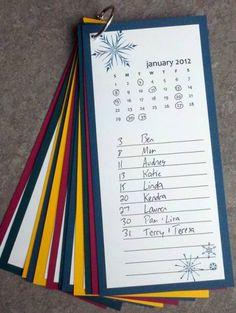birthday calender- i so need to make one of these  as i'm always forgetting birthdays