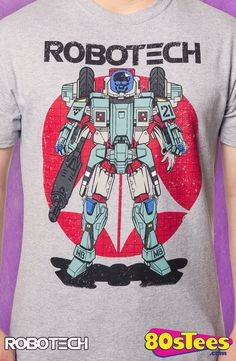 Robotech Armored Cyclone T-Shirt: Robotech Mens T-Shirt Anime Geeks:  The art and design of this illustration  makes this t-shirt a must-have addition to your collection of men's fashion shirts.