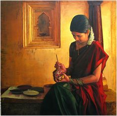 Amazing Oil Painting by South Indian Legend Ilaiyaraaja (3)