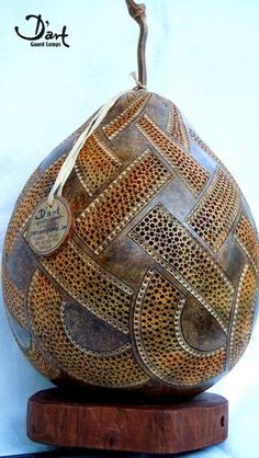 Gourd Lamp so much detail. Cool! http://www.etsy.com/listing/112986382/dart-gourd-lamp-13?