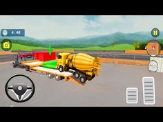 Cement Mixer Transport Drive - Airport City Construction - Android Gameplay - YouTube