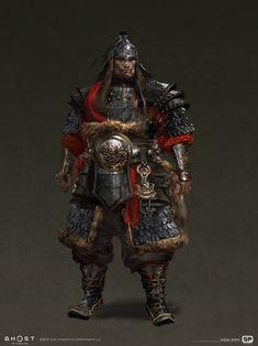 Armor Concept, Concept Art, Character Concept, Character Art, Character Ideas, Chinese Armor, Japanese Warrior, Ghost Of Tsushima, Fantasy Armor