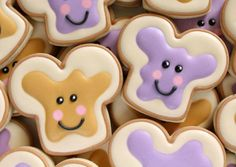 Cute Kawaii Peanut Butter and Jelly Cookies via Sweetsugarbelle.com