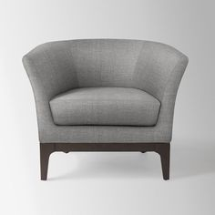 Slipper Chair Brushed Heathered Cotton, Flax