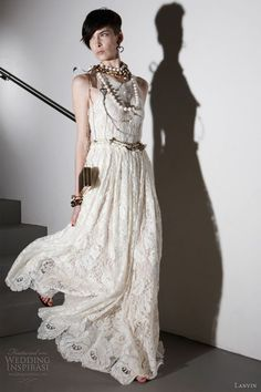boho chic wedding dress lanvin