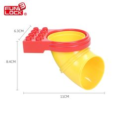 5.93$  Buy now - http://alisln.shopchina.info/go.php?t=32666811662 - Funlock Duplo Blocks 3pcs Pipe Tube Set Funny Park Theme Playground Bricks Kids Toy Games  #aliexpressideas