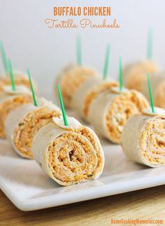 Buffalo Chicken Tortilla Pinwheels | 23 Adorable Pinwheel Foods To Make For Someone You Love
