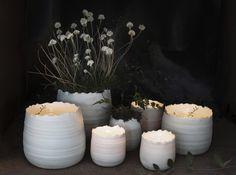 Vase Glow unglasiertes Porzellan naturweiß 9x9cm  - Gefunden im #KONTOR1710