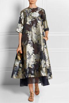 Biyan|Adine oversized embroidered organza dress|NET-A-PORTER.COM