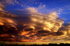 Lenticular Clouds Sunset