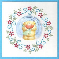 Voorbeeldkaart - Kerstkaart VK-106 - Categorie: Hobbydots - Hobbyjournaal uw…