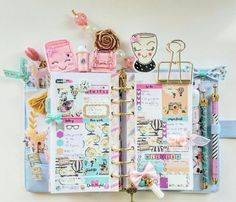 Cute Planner, Planner Layout, Happy Planner, Kikki Planner, Kawaii Planner, Planner Ideas, Stationery Store, Cute Stationery, Stationary