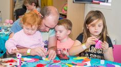 A family enjoying drop-in crafts at The Roald Dahl Museum and Story Centre Roald Dahl Day, Centre, Museum, Drop, Celebrities, Crafts, Celebs, Manualidades, Handmade Crafts