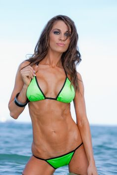 Fitness spokes model Amber Day will be your personal lifestyle, business and fitness coach! Bikini Fitness Models, Bikini Models, Amber Day, Green Bikini, Figure Model, Gym Girls, Hottest Models, Bikini Girls, Bikini Babes