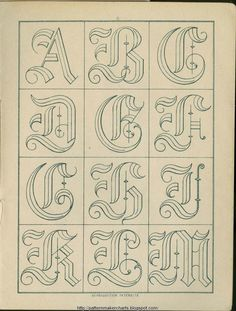 Free Easy Cross, Pattern Maker, PCStitch Charts + Free Historic Old Pattern Books: Sajou No 341 Stencil Lettering, Tattoo Lettering Fonts, Lettering Styles, Calligraphy Letters, Typography Letters, Forearm Sleeve Tattoos, Creative Lettering, Letter Stencils, Illuminated Letters