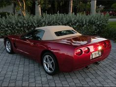 Magnetic Red Metallic 2004 Corvette