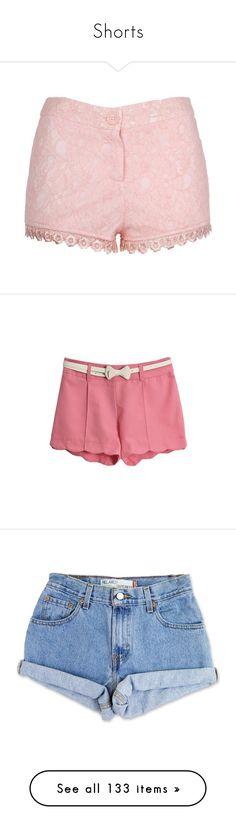 """Shorts"" by thesassystewart on Polyvore featuring shorts, bottoms, pants, short, short hot pants, micro short shorts, jean shorts, short shorts, mini short shorts and cotton shorts"