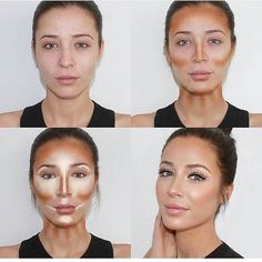 17 Ideas makeup tips contouring make up Beauty Make-up, Beauty Hacks, Hair Beauty, Beauty Tips, Natural Beauty, Natural Contour, Beauty Products, Natural Makeup, Makeup Contouring