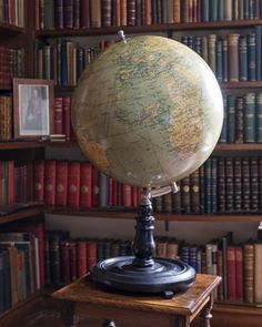 Globe showing the imperialist world-view in the Study at Bateman's. ©National Trust Images/Andreas von Einsiedel.nttreasurehunt.wordpress.com