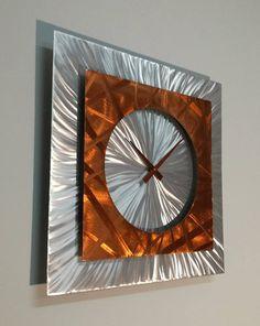 Copper Unique Wall Clock ''DEMOCRATES''