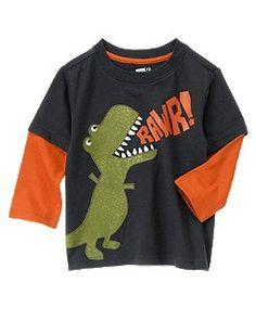 Rawr Dino Double Sleeve Tee