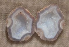 Tabasco Geode 1 Pair Cut and Polished Great for Jewelry 42720
