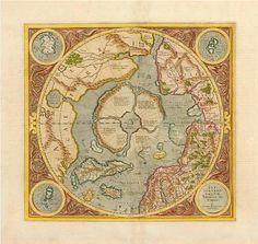 polar map 16th century dutch greenland iceland canada