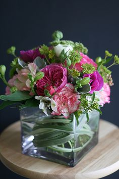 Floral Arrangement ~ pink, white