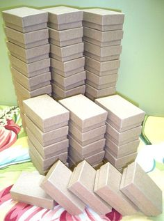100 Pack Kraft Boxes 2.5 x 1.5 x 1 in // ECONOMY by displaydiva, $22.95