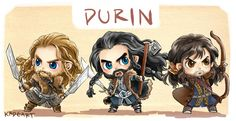 The line of Durin is here to be super-adorable: Fili, Thorin and Kili.
