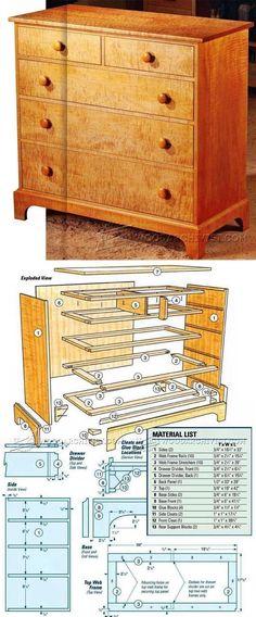 Shaker Dresser Plans - Furniture Plans and Projects | WoodArchivist.com