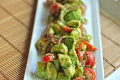 Deconstructed Guacamole Salad: So that you can guiltlessly eat an entire pile of guacamole.