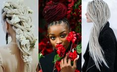Tips and tricks for the newest women dreadlocks styles in Wedding dreadlock styles, blonde dreadlocks, non-conventional colors, and much more! Blonde Dreadlocks, Locs, Peekaboo Highlights, Blonde Highlights, Natural Dreads, Baby Bangs, Ice Blonde, White Jasmine, Dreadlock Styles