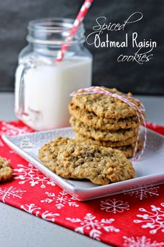Renee's Kitchen Adventures: Spiced Oatmeal Raisin Cookies.  A classic cookie with a new twist!