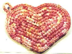 crochet rag potholder or you can make it into a basket. It takes about a yard of fabric.