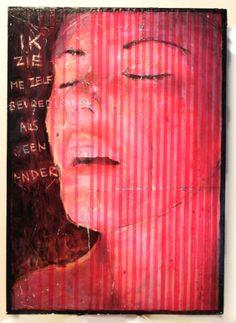 """"""" Self """"   ( mixed media, paper  wood,23x32cm)"""
