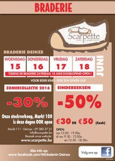 Stockverkoop kinder en jeugdschoenen -- Deinze -- 15/06-18/06