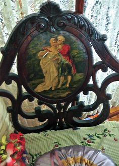 Wonderful hand painted Victorian chair