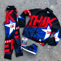 """Authentic Sole Boutique on Instagram: """"New @ethikclothingco """"Athletic Retro"""" Windbreaker set 👆🏽 Jacket : $108 Pants :$ 74 AJ 1 Retro Hi OG Royal sz 10 (DS) $325 . . Available…"""" Teen Swag Outfits, Dope Outfits For Guys, Nike Outfits, Boy Outfits, Casual Outfits, Hype Clothing, Mens Clothing Styles, Retro Windbreaker, Teenage Boy Fashion"""
