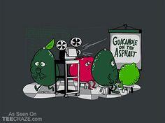 Guacamole On The Asphalt T-Shirt - http://teecraze.com/guacamole-on-the-asphalt-t-shirt/ -  Designed by Adam Koford    #tshirt #tee #art #fashion #TCRZ #clothing #apparel