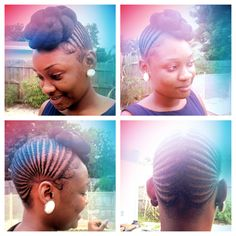 Great protective style for natural hair !! Stylist is located in boynton beach fl. Instagram @les_cheveux_noirs.
