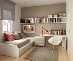 Trendy Home Office Quarto Simples Ideas Home Office Design, Home Office Decor, House Design, Office Ideas, Office Designs, Office Style, Guest Bedroom Office, Home Bedroom, Guest Rooms