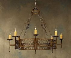 Wrought Iron Chandeliers | Rustic Light Fixtures | Illuminaries
