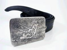 Hummingbird Belt Buckle  Etched Stainless Steel  by RhythmicMetal, $60.00