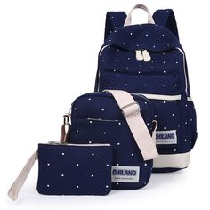 2016 New Brand New Desigh Cute Carton Backpacks For Teenage Girls Children School Bags 3 Pcs  Leisure  Bags Mochila Escolar