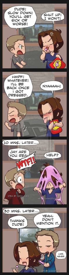 Help? by KamiDiox on deviantART | Anyone notice how Supernatural is playing on a TV in the background?