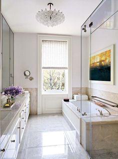 Modern Bathroom by Wells & Fox and Dell Mitchell in Boston, MA