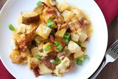 Loaded Baked Potato & Chicken Casserole.    ***Read reviews before making.***