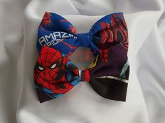 Superhero Bowtie Hairclip Hairband by PerfectlyCraftedByT on Etsy