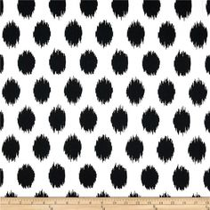 Premier Prints Jo Jo Black/White fabric (good for pillows @ LRM) Black And White Valance, Black And White Fabric, Black Dots, Black White, Custom Valances, Custom Drapes, Etsy Fabric, Pillow Fabric, Cotton Fabric